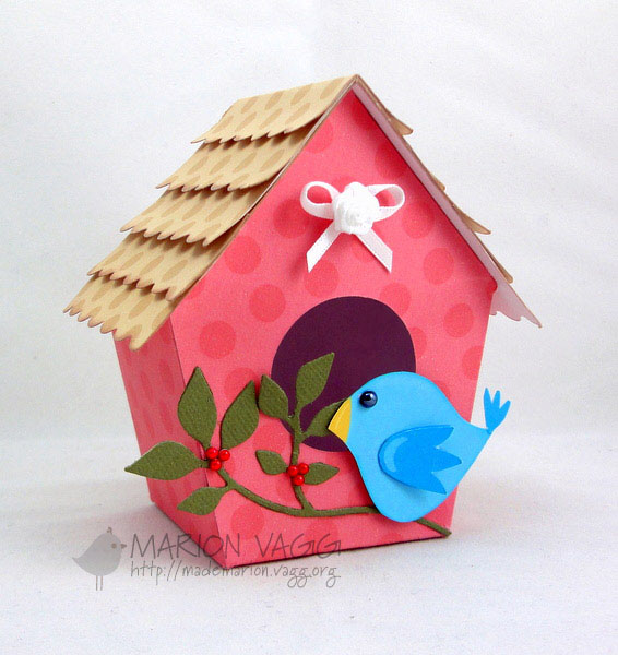 I Recently Discovered This Bird House Template From Nichole Heady However Modified It Enlarged The By 160 Before Printing Off Onto A