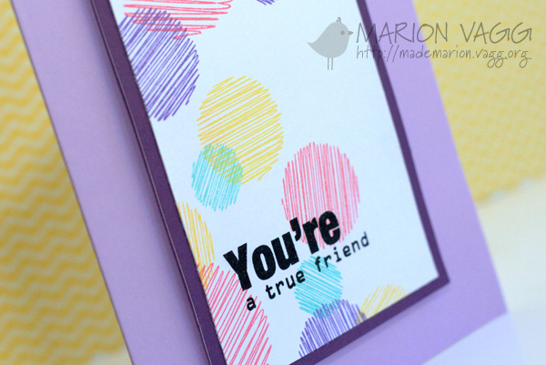 You're a true friend - detail