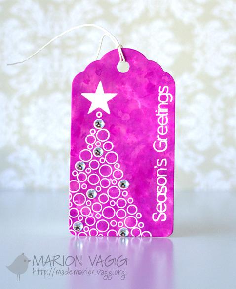 Season's greetings tag