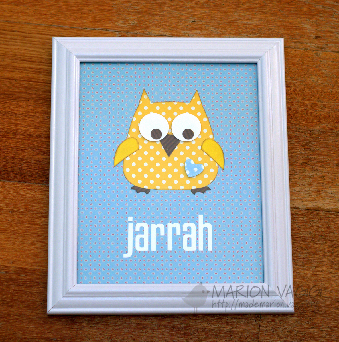 Owl for Jarrah