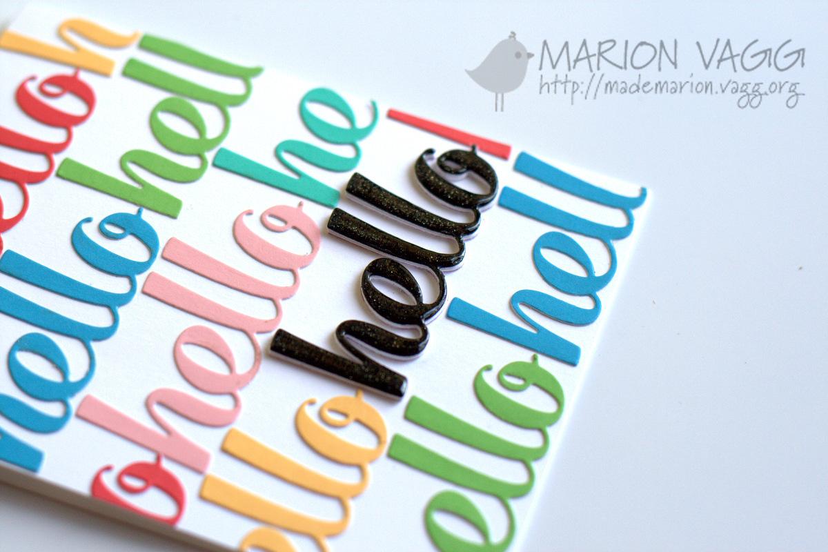 Hello detail | Marion Vagg