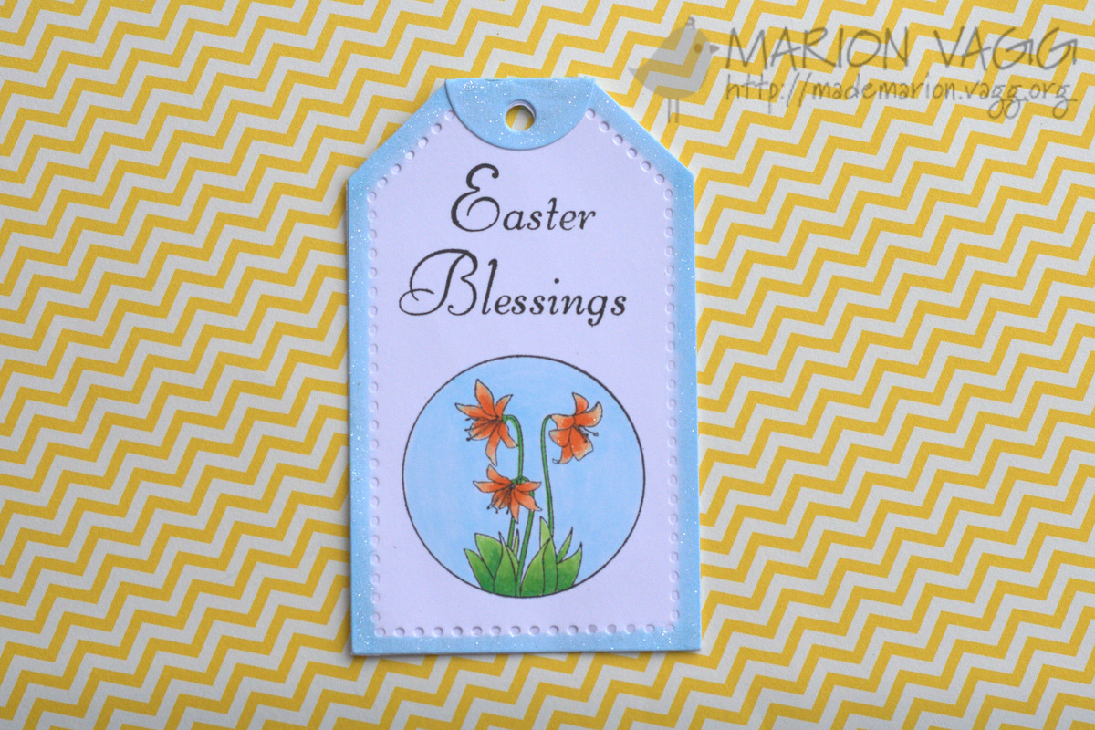 Easter Blessings tag | Marion Vagg