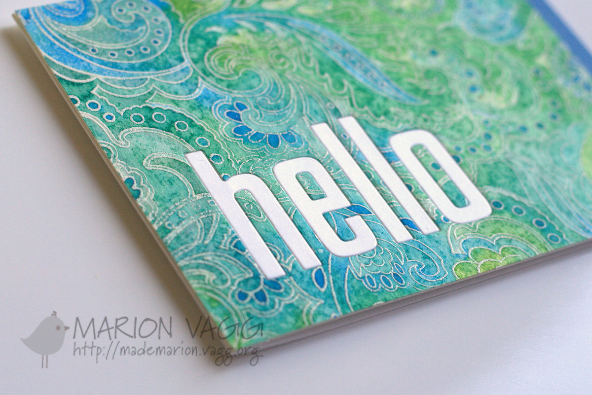 Watercoloured Hello - detail | Marion Vagg