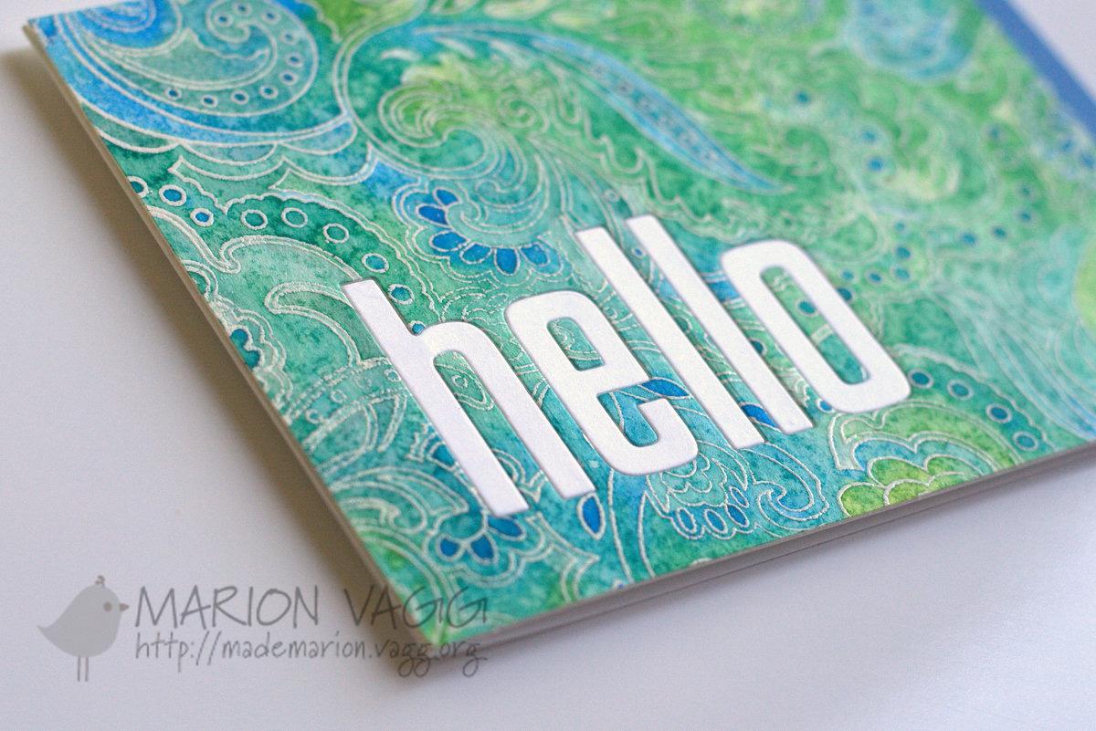 Watercoloured Hello - detail | Marion Vagg