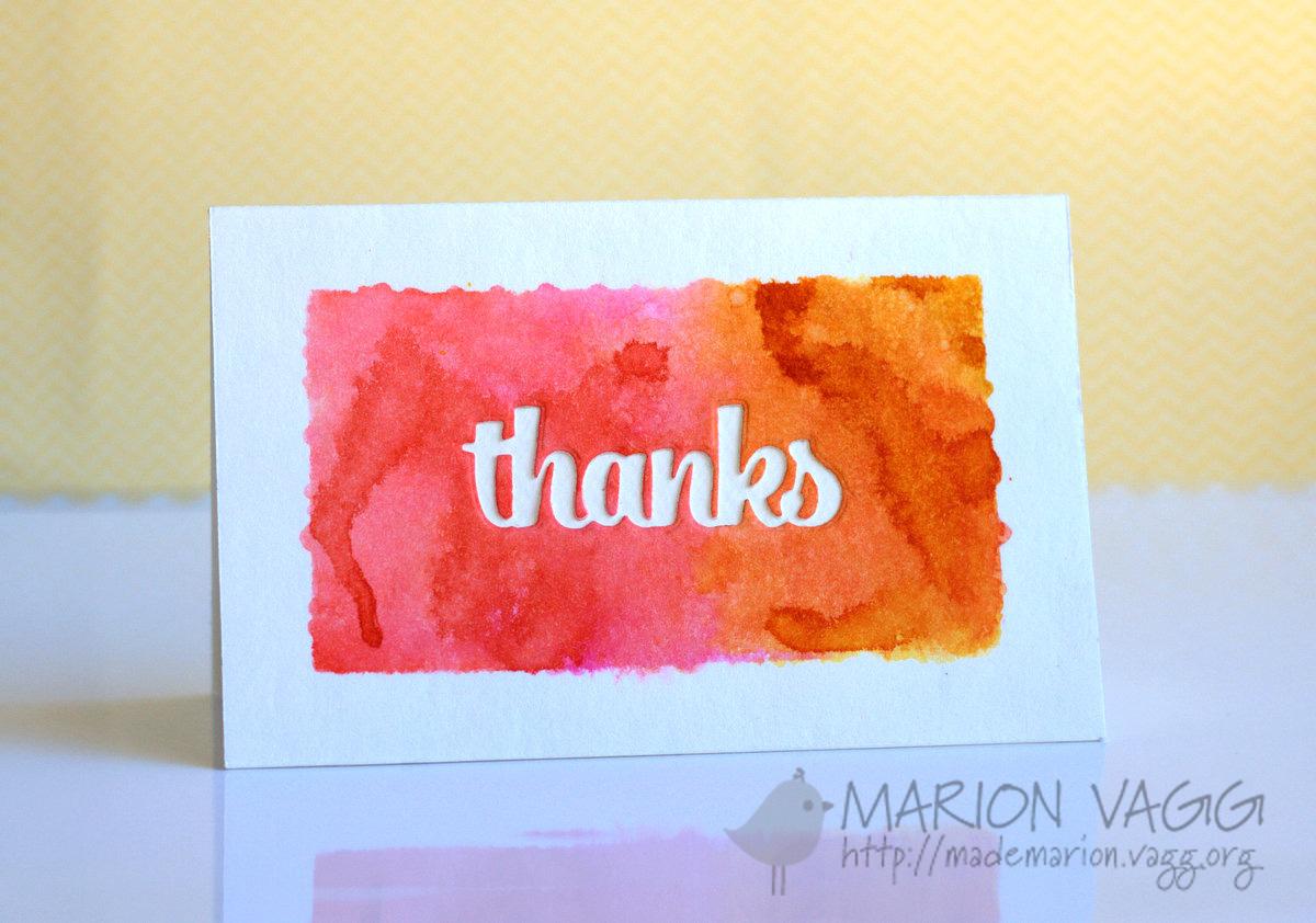 Thanks | Marion Vagg