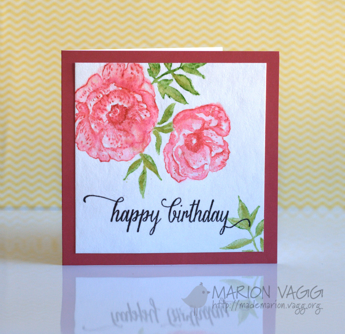 Watercolour flowers | Marion Vagg