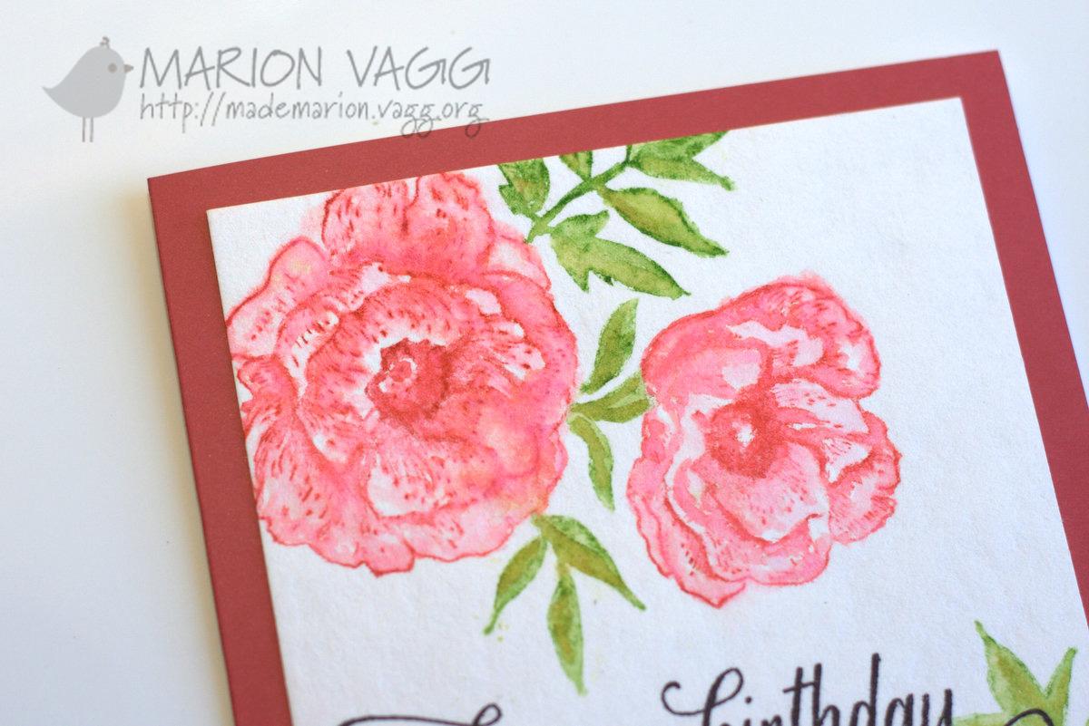 Watercolour flowers - detail | Marion Vagg