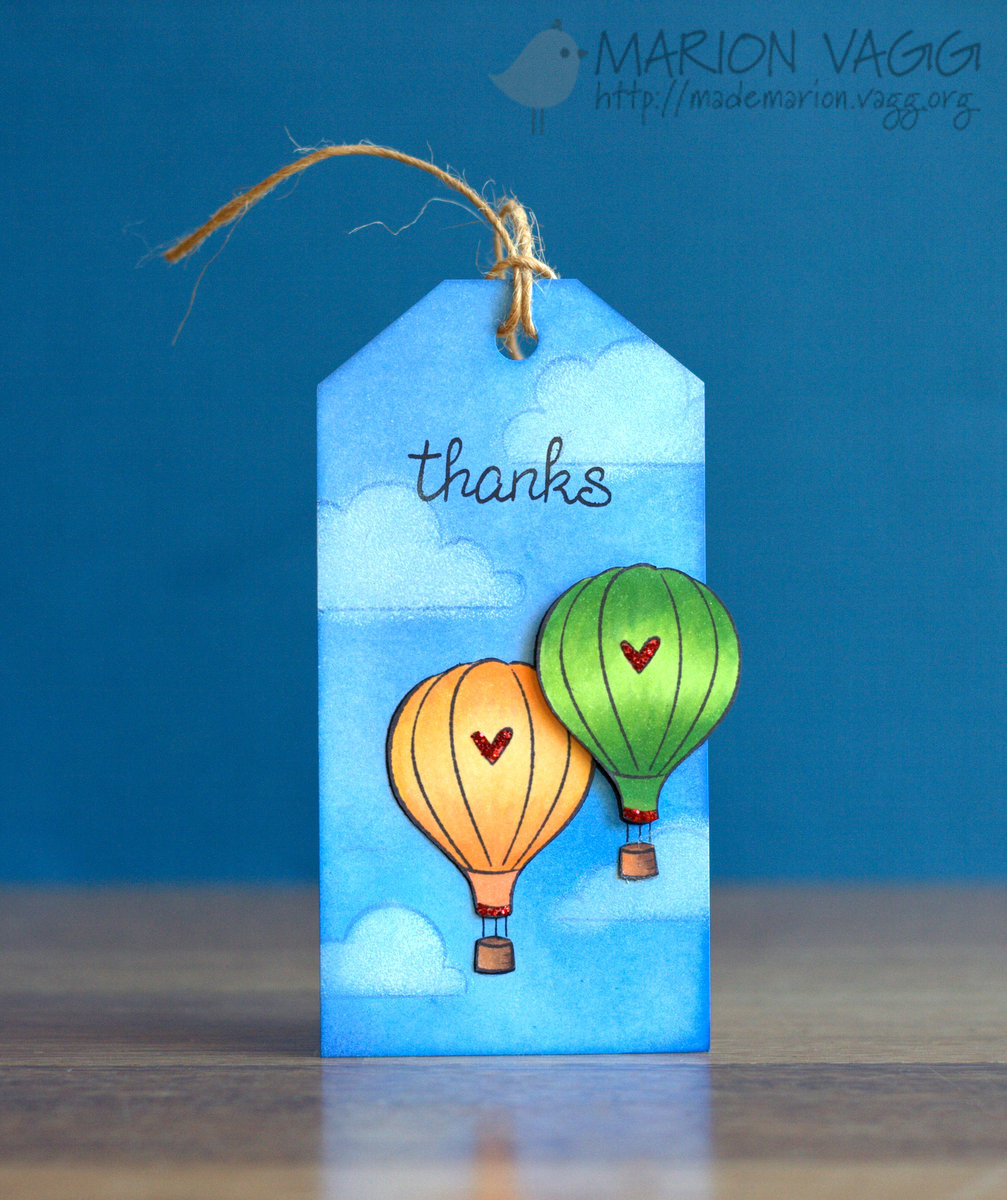 Hot air balloon tag | Marion Vagg