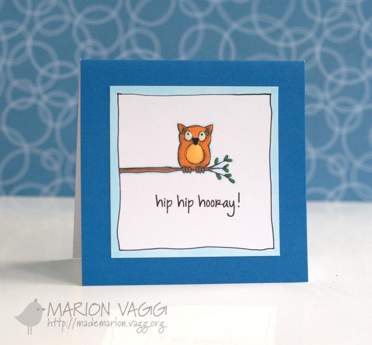 Hip hip hooray owl | Marion Vagg