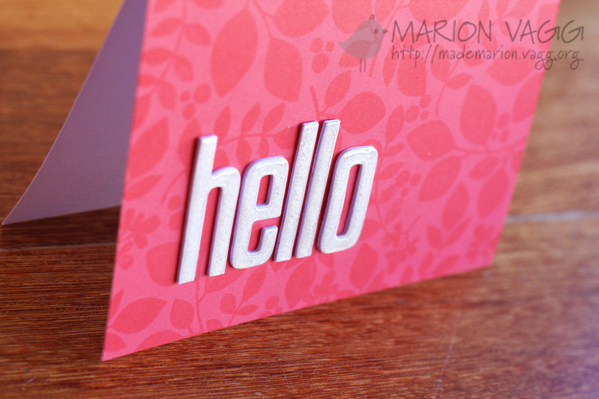 Hello - detail | Marion Vagg