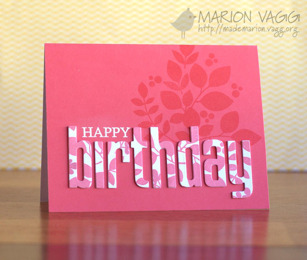 Happy Birthday | Marion Vagg