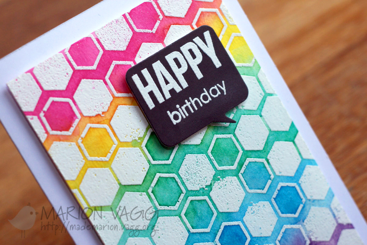 PB Happy Birthday - detail | Marion Vagg