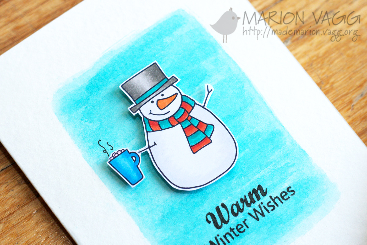Warm Winter Snowman Wishes - detail | Marion Vagg