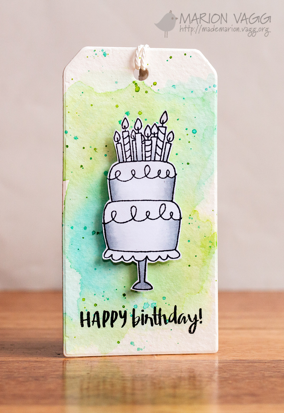 JD Happy Birthday Tag | Marion Vagg